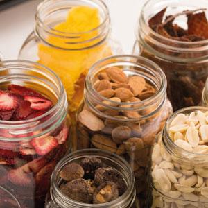 Frascos alimentos deshidratados